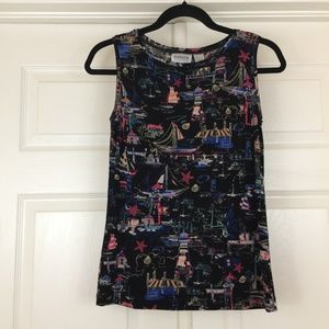 Chico's Travelers nautical print sleeveless top 0